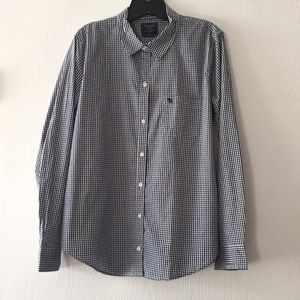 Women's Abercrombie & Fitch navy blue button up